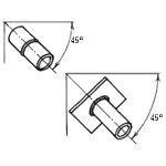 Сварка труб под наклоном 45 градусов (H45 / HL045 / 6G)